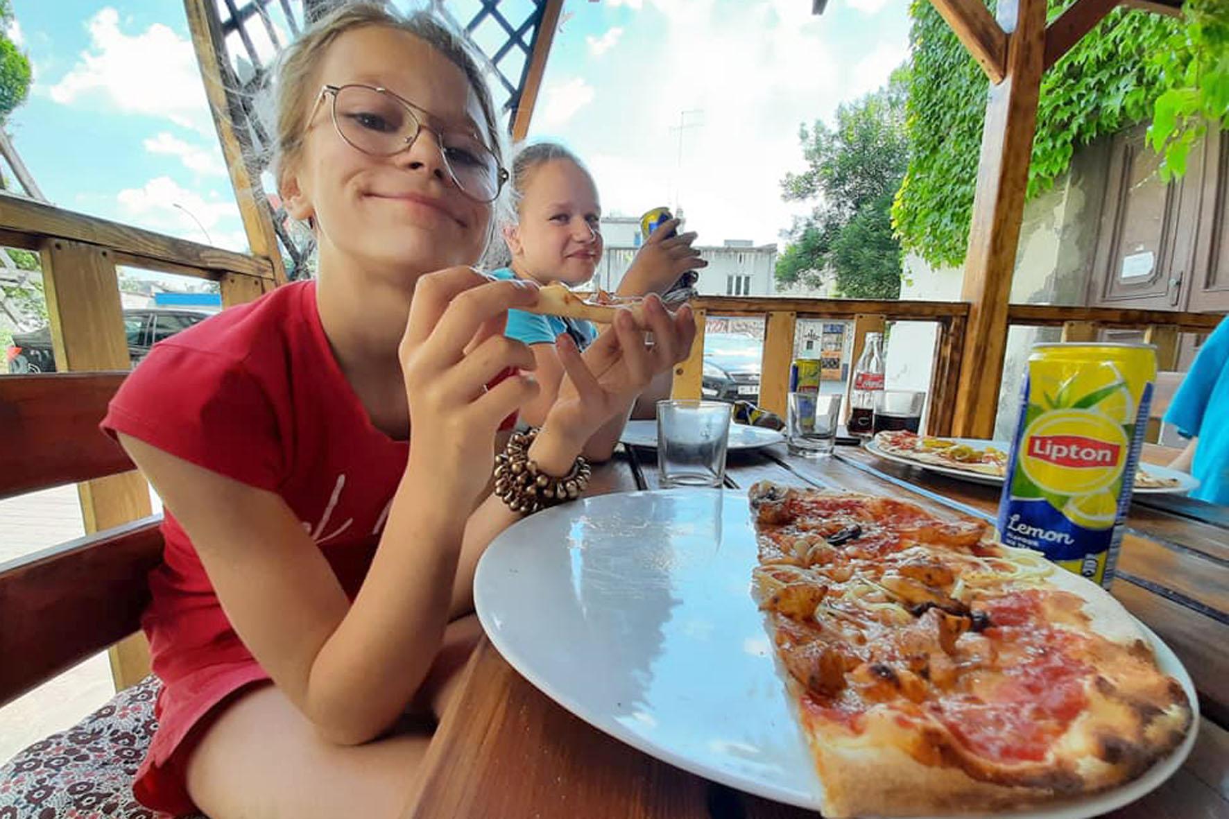 Spacer po alejach zakończony pyszną pizzą